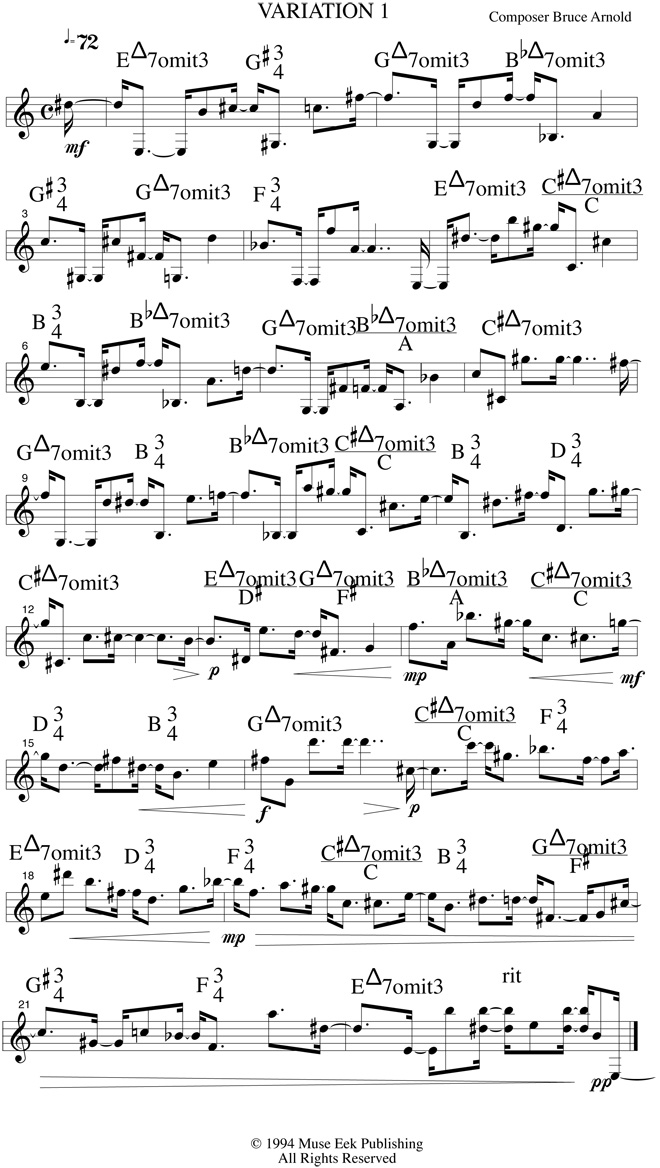 Chord Spellings in 12 Tone Tune