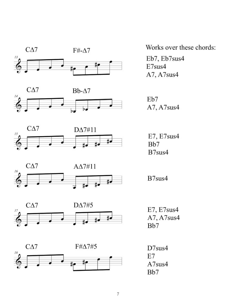 Tertial-Octatonic-Tetrad-Combinations-Pitch-Class-Set-Improvisation-Tools-for-Modern-improvisation-by-Bruce-Arnold72DPI