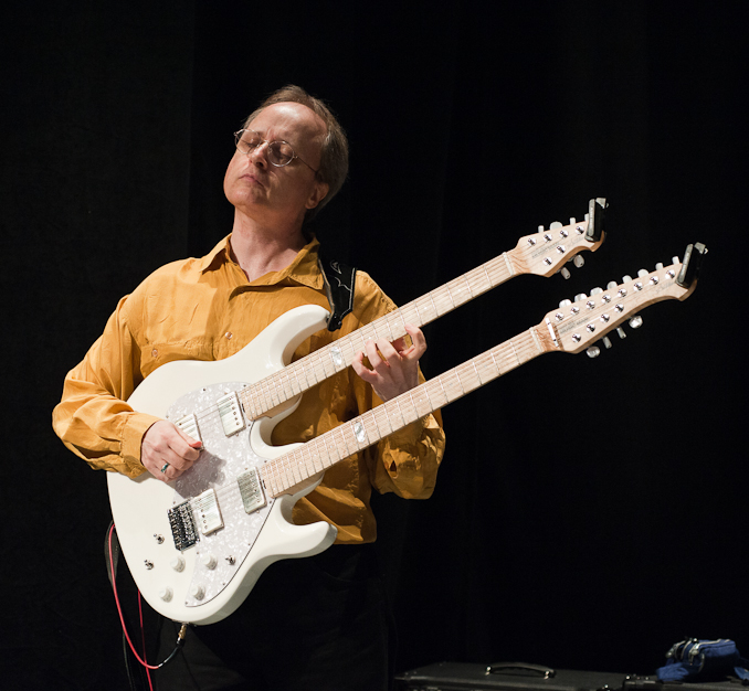 Bruce Arnold performing with a Music Man Double Neck Guitar Jazz guitarist Bruce Arnold Interview